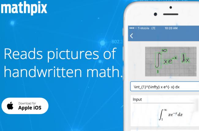 Mathpix – Aplicativo para celular que resolve problemas matemáticos escritos à mão