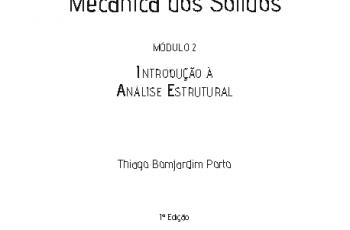 Módulo 2 – Introdução À Análise Estrutural – Thiago Bomjardim Porto – COLEÇÃO NA PRÁTICA: Mecânica dos sólidos: